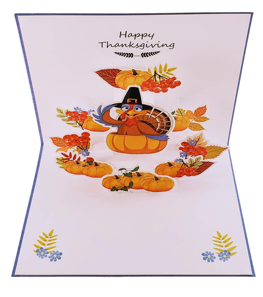 Happy Thanksgiving Turkey 3D Pop Up Greeting Card 5