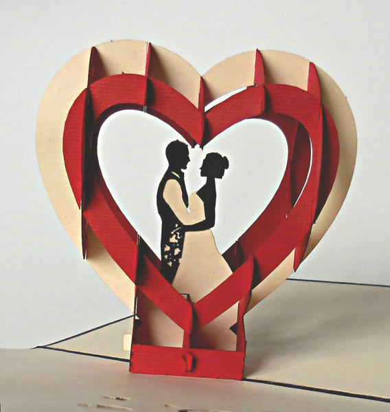 Happy Wedding II 3D Pop Up Greeting Card 3