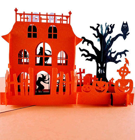 Haunted Mansion 3D Pop Up Greeting Card 1 front