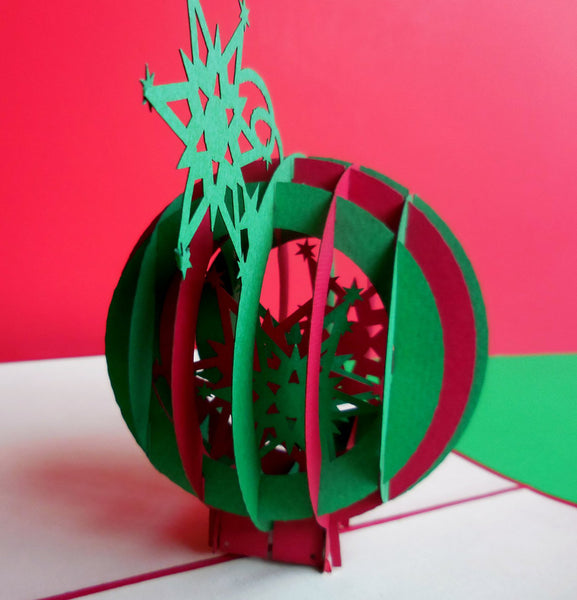 Holiday Ornament 3D Pop Up Greeting Card 1