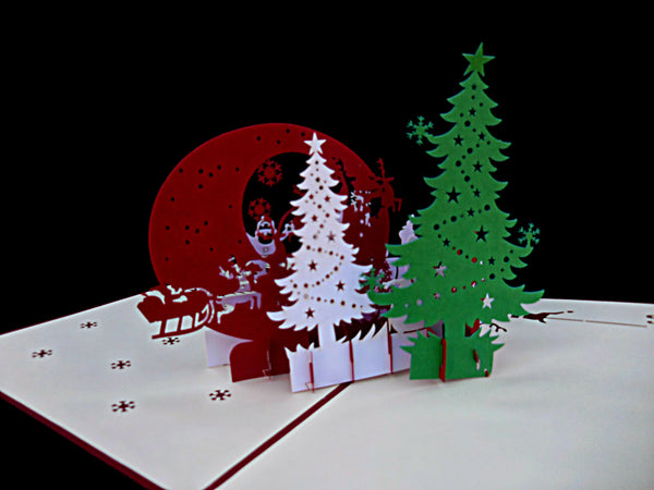 Holy Night Party 3D Pop Up Greeting Card 3