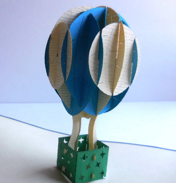 Hot Air Balloon 3D Pop Up Greeting Card 1