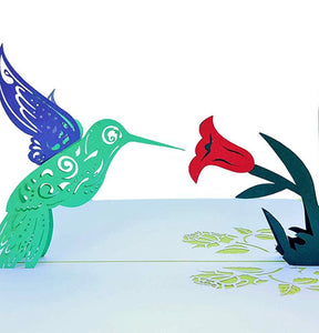 Hummingbird 3D Pop Up Greeting Card 1