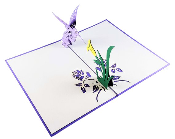 Hummingbird 3D Pop Up Greeting Card 4