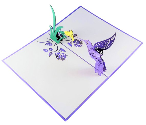 Hummingbird 3D Pop Up Greeting Card 6
