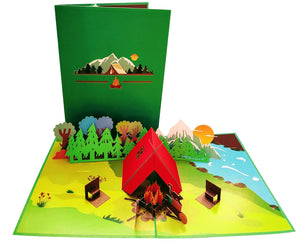 I Love Camping 3D Pop Up Greeting Card