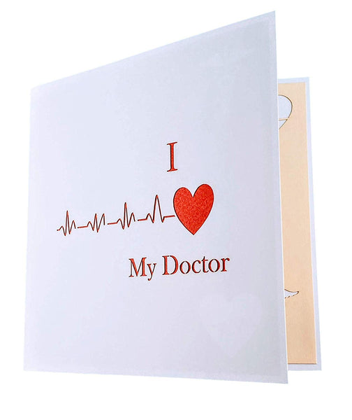 I Heart My Doctor 3D Pop Up Greeting Card 7