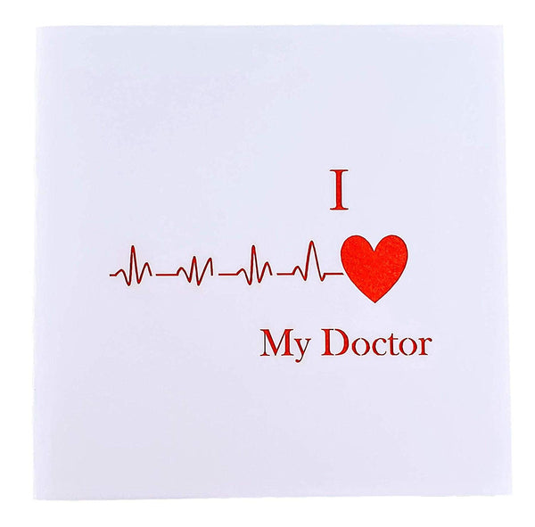 I Heart My Doctor 3D Pop Up Greeting Card 8