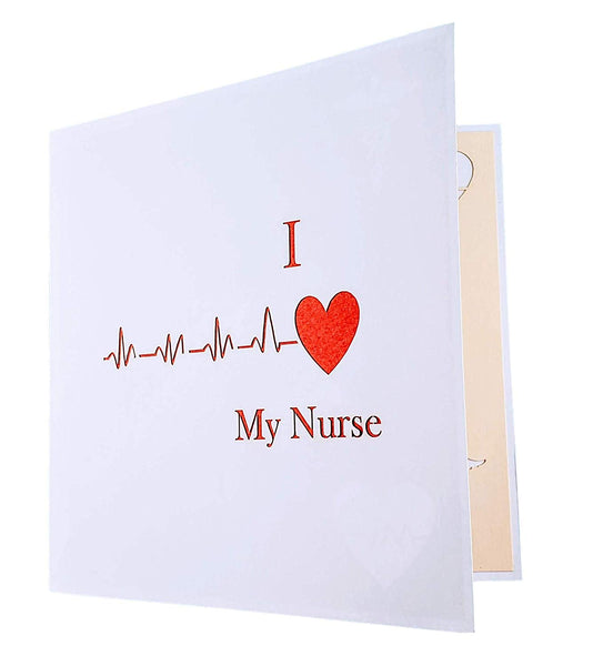 I Heart My Nurse 3D Pop Up Greeting Card 7