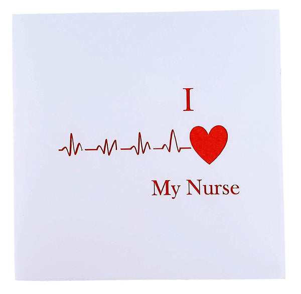 I Heart My Nurse 3D Pop Up Greeting Card 8