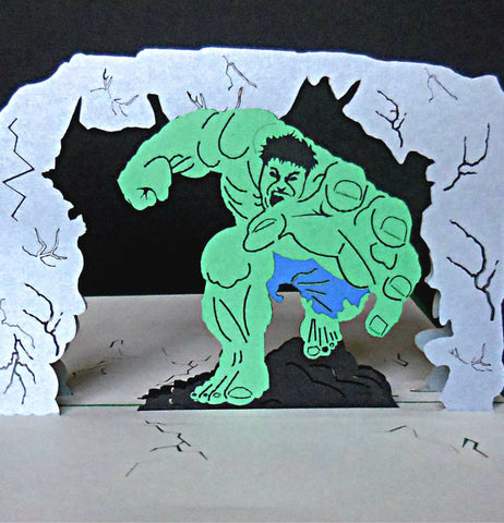 Incredible Hulk 3D Pop Up Greeting Card 1