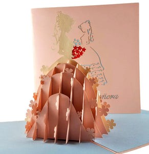 La Quinceañera 3D Pop Up Greeting Card 01 front
