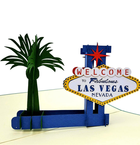 Las Vegas 3D Pop Up Greeting Card 1
