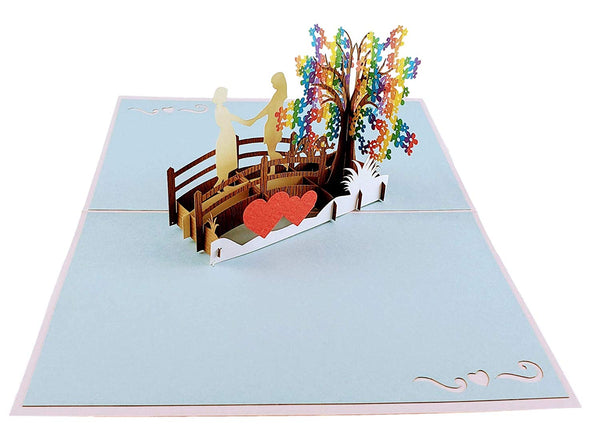 Lesbian Couple True Love 3D Pop Up Greeting Card 5