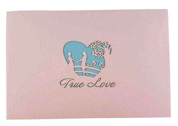 Lesbian Couple True Love 3D Pop Up Greeting Card 7