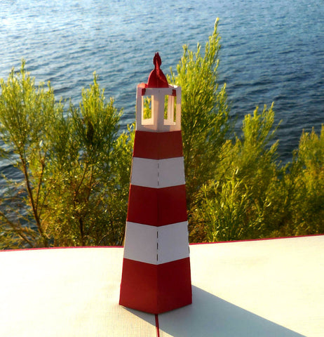 Light House 3D Pop Up Greeting Card 1