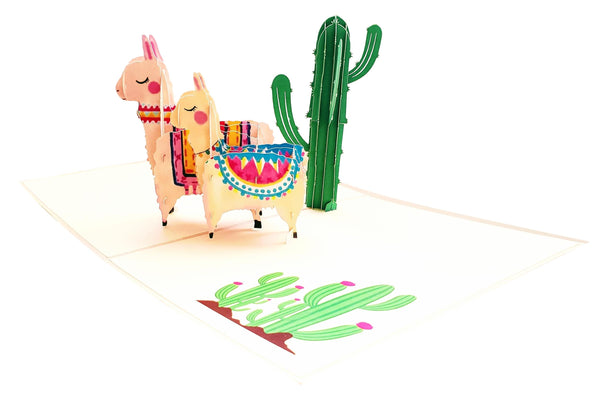 Llama Family 3D Pop Up Greeting Card 5