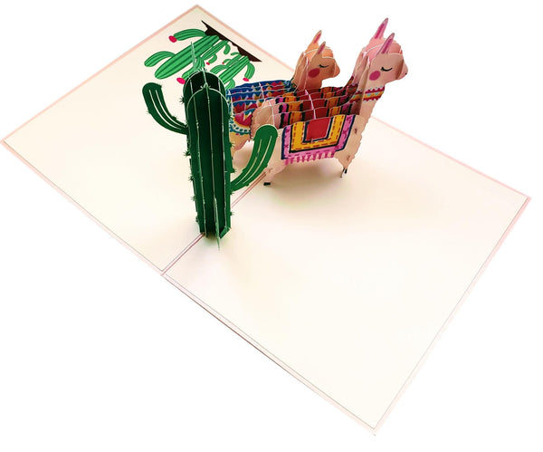 Llama Family 3D Pop Up Greeting Card 6