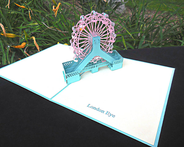 London Eye 3D Pop Up Greeting Card 3