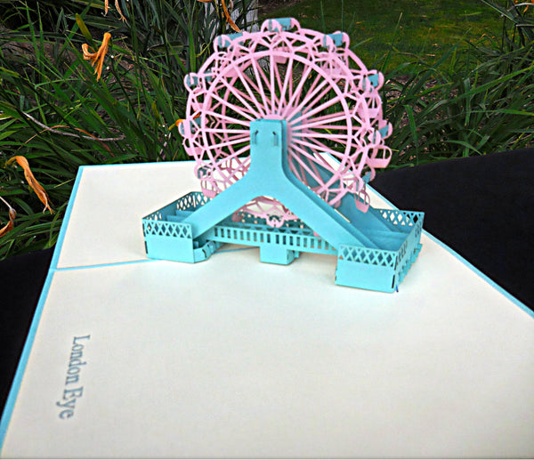 London Eye 3D Pop Up Greeting Card 4