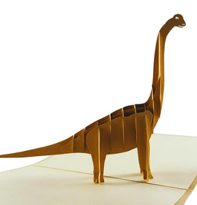 Long Neck Dinosaur 3D Pop Up Greeting Card 1