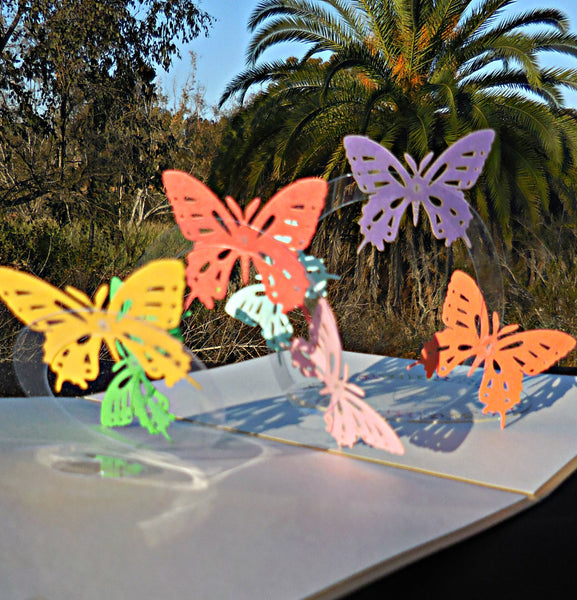 Lots of Butterflies 3D Pop Up Greeting Card 1