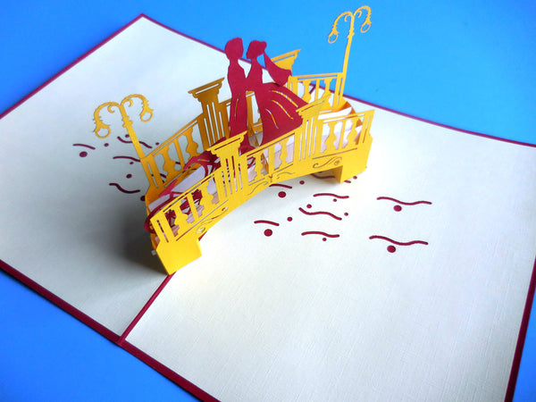 Lovers Bridge 3D Pop Up Greeting Card 3