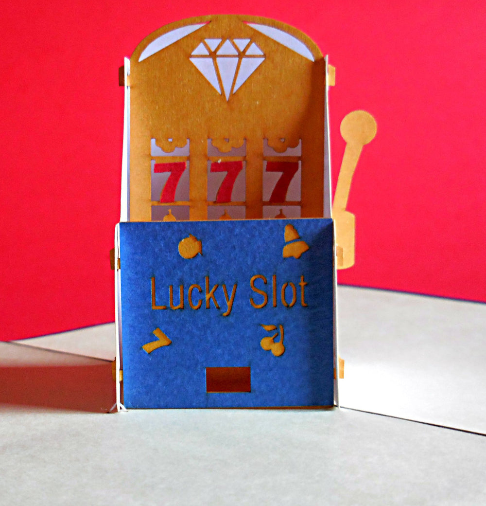 Lucky Slot 3D Pop Up Greeting Card 1