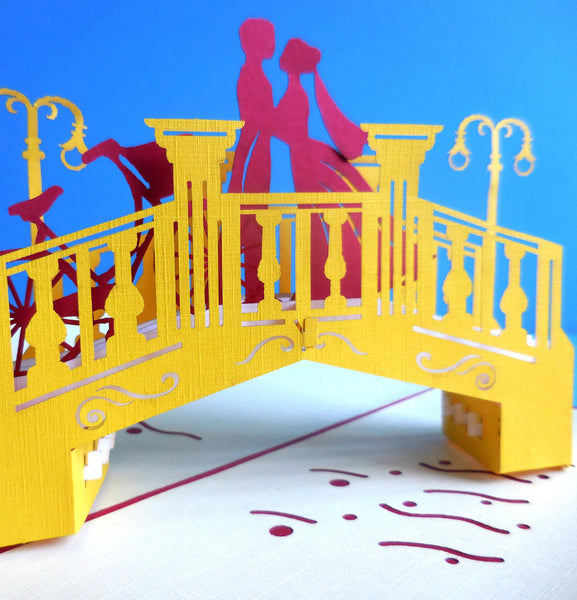 Lovers Bridge 3D Pop Up Greeting Card 1