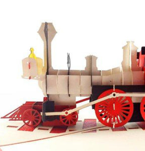 Magical Christmas Steam Train 3D Pop Up Greeting Card 1 front