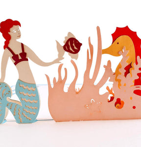 Mermaid 3D Pop Up Greeting Card 1