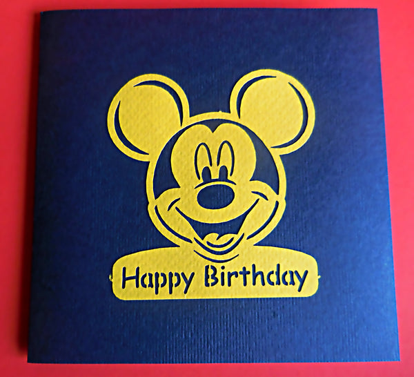 Mickey Mouse 3D Pop Up Greeting Card 3