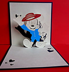 Mickey Mouse 3D Pop Up Greeting Card 1