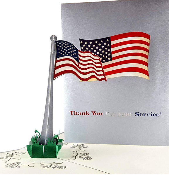 Military Appreciation 3D Pop Up Greeting Card 1 front