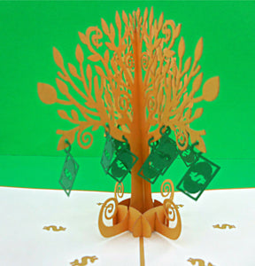 Money Tree 3D Pop Up Greeting Card 1