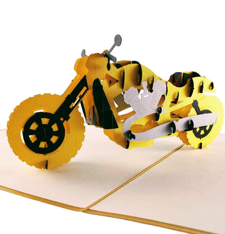 Motorcycle III 3D Pop Up Greeting Card 1 front