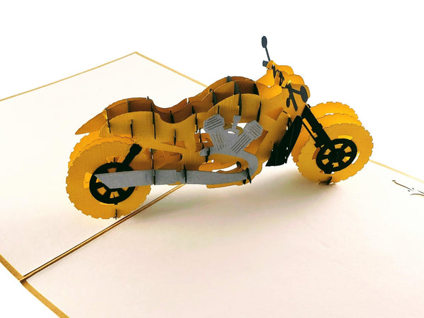 Motorcycle III 3D Pop Up Greeting Card 2