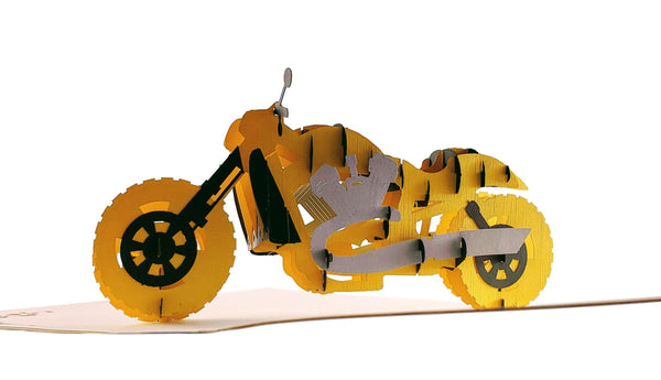 Motorcycle III 3D Pop Up Greeting Card 6
