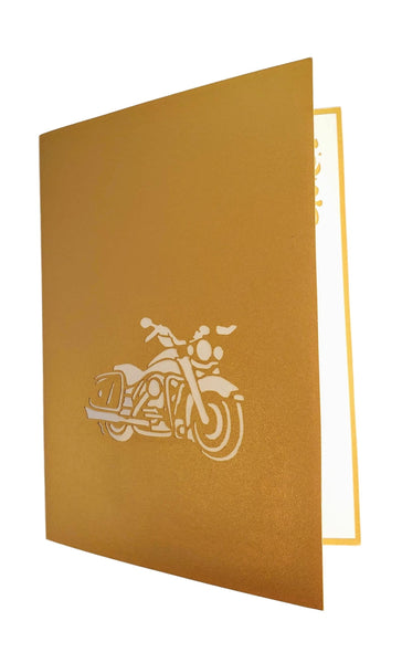 Motorcycle III 3D Pop Up Greeting Card 8