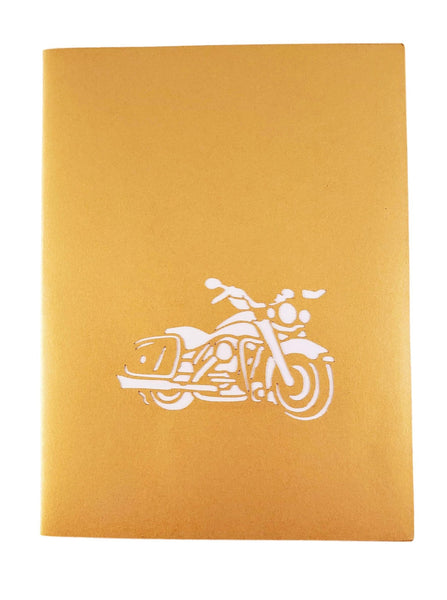 Motorcycle III 3D Pop Up Greeting Card 9