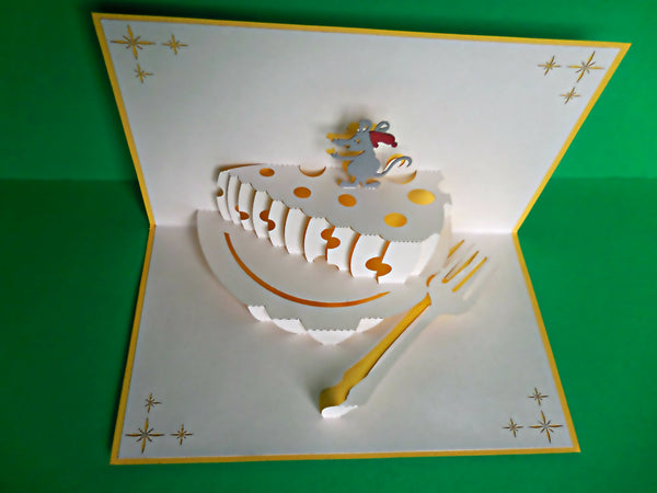 Mouse N Cheese 3D Pop Up Greeting Card 3