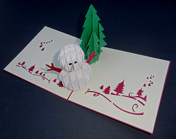 Snowman 3D Pop Up Greeting Card 2