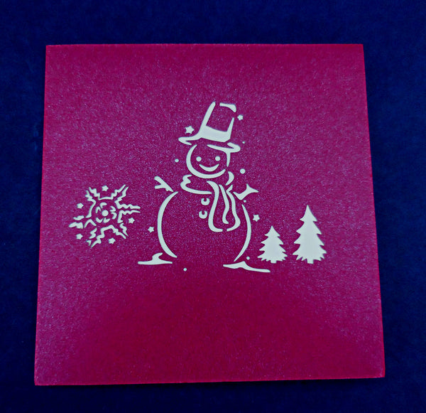Snowman 3D Pop Up Greeting Card 3