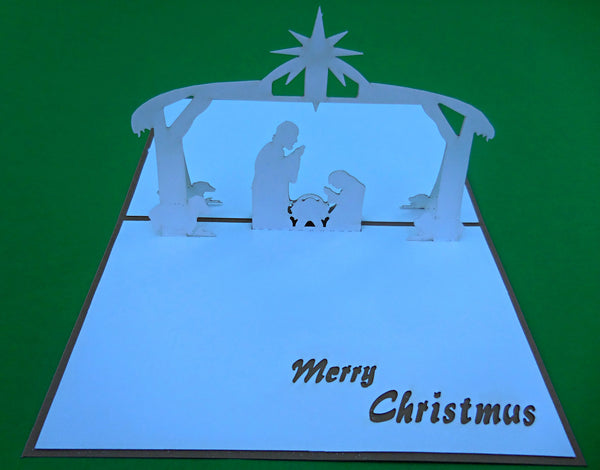 Nativity 3D Pop Up Greeting Card 2