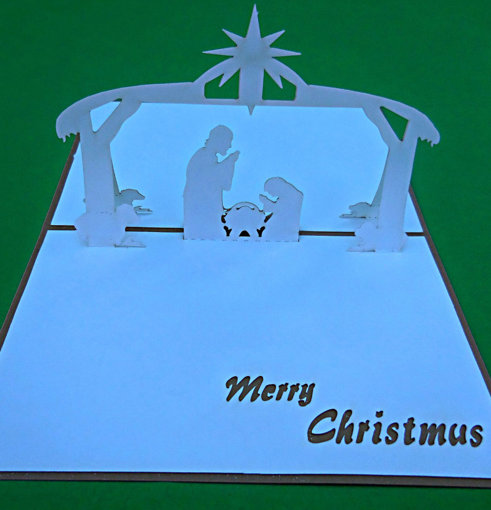 Nativity 3D Pop Up Greeting Card 1