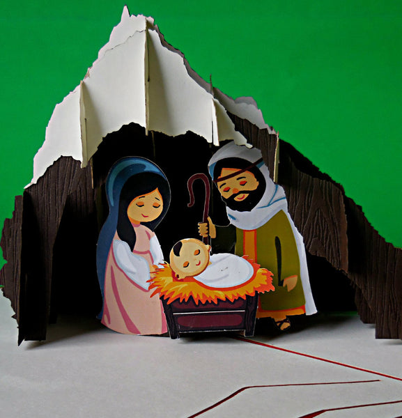 Nativity III 3D Pop Up Greeting Card 1