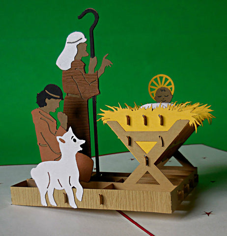 Nativity II 3D Pop Up Greeting Card 1