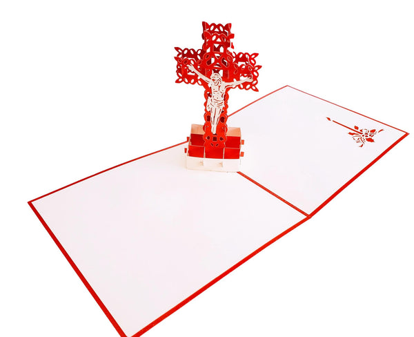 Simple Cross 3D Pop Up Greeting Card 3