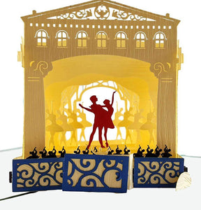 Nutcracker 3D Pop Up Greeting Card 1 front