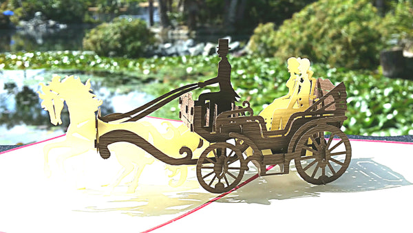 Open Carriage 3D Pop Up Greeting Card 2